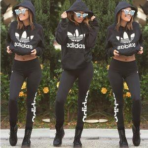 Adidas // Linear Logo Leggings